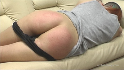 Natasha spanking rectal temperature suppository - 3 part 2